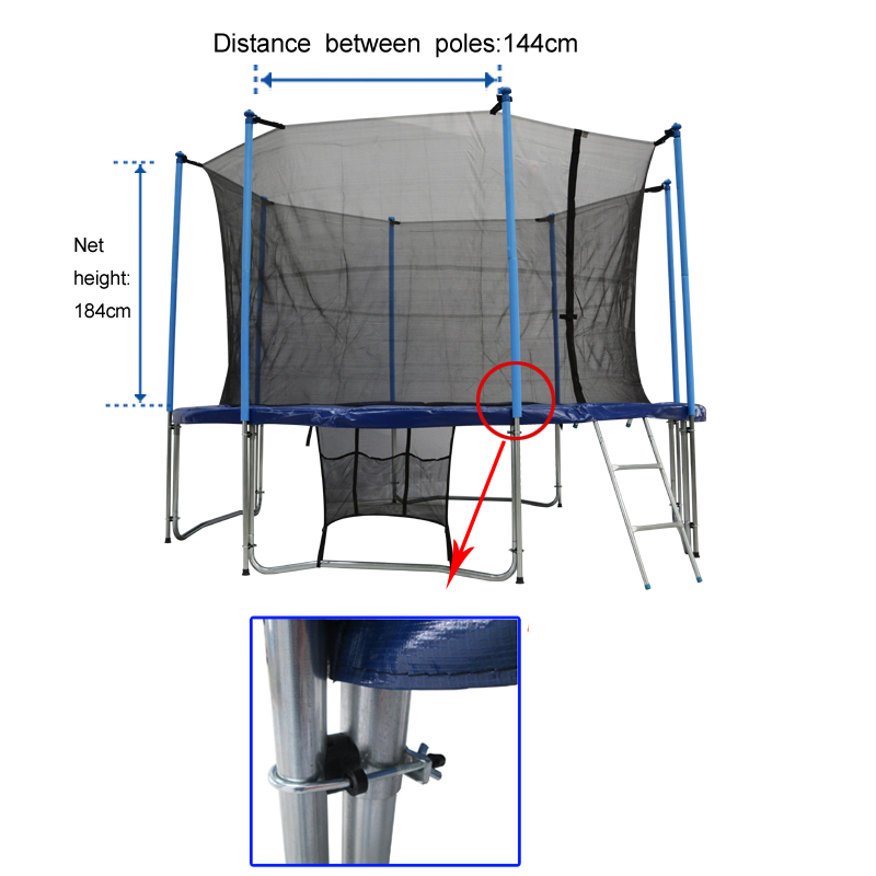 12 Foot Trampoline Mat And Springs: Zupapa Round 12ft Trampoline Frame Safety Enclosure Spring