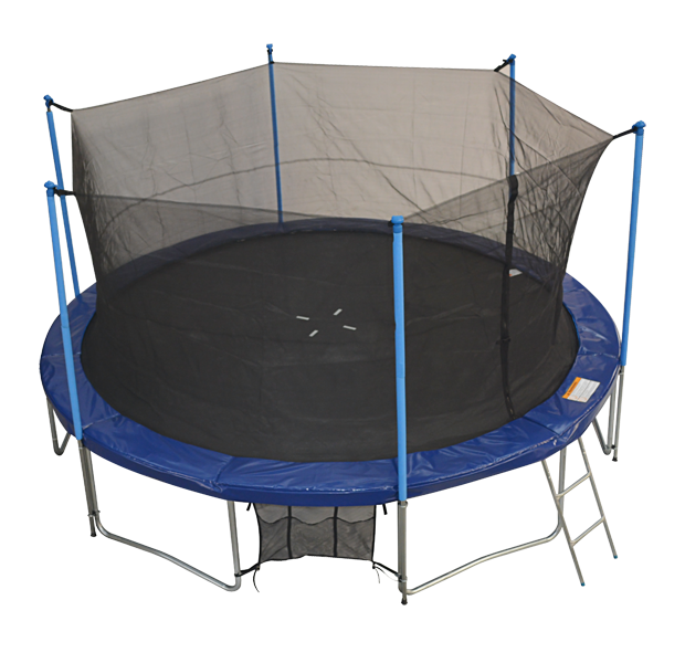 Airzone 14 Spring Trampoline And Enclosure Set: Zupapa Round 14ft Trampoline Frame Safety Enclosure Spring