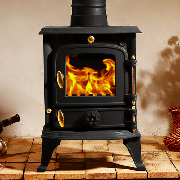 5 5kw Multifuel Stove Cast Iron Log Woodburner High