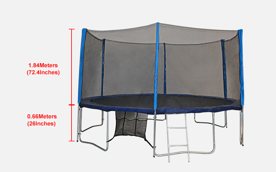 Zupapa 12 14 15ft Trampoline With Enclosure Bounce