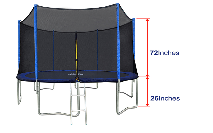 New Zupapa 14ft Round Trampoline With Safety Pad Inside