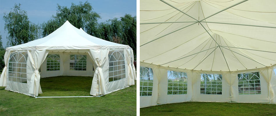 9x65M Marquee Features And Warranty Size 9X65M Decagon Height 36M To The Top 2M Edge Door Width