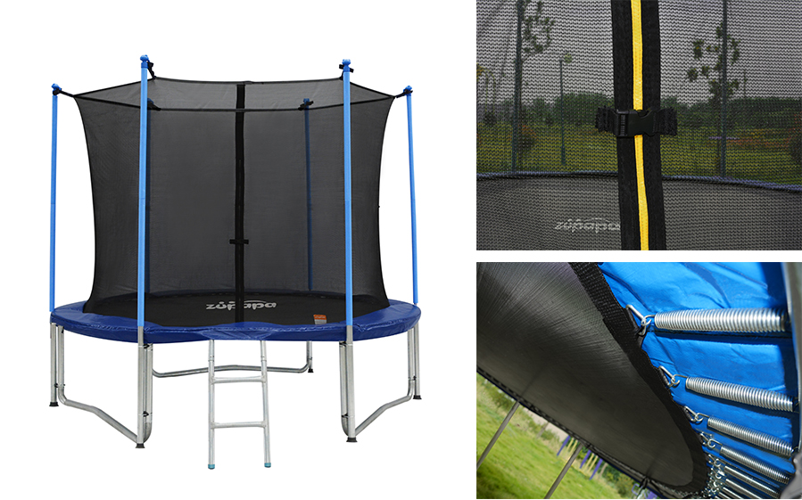 10ft Zupapa Trampoline Combo Jump Safety Enclosure Net Round Outdoor Backyard Ebay