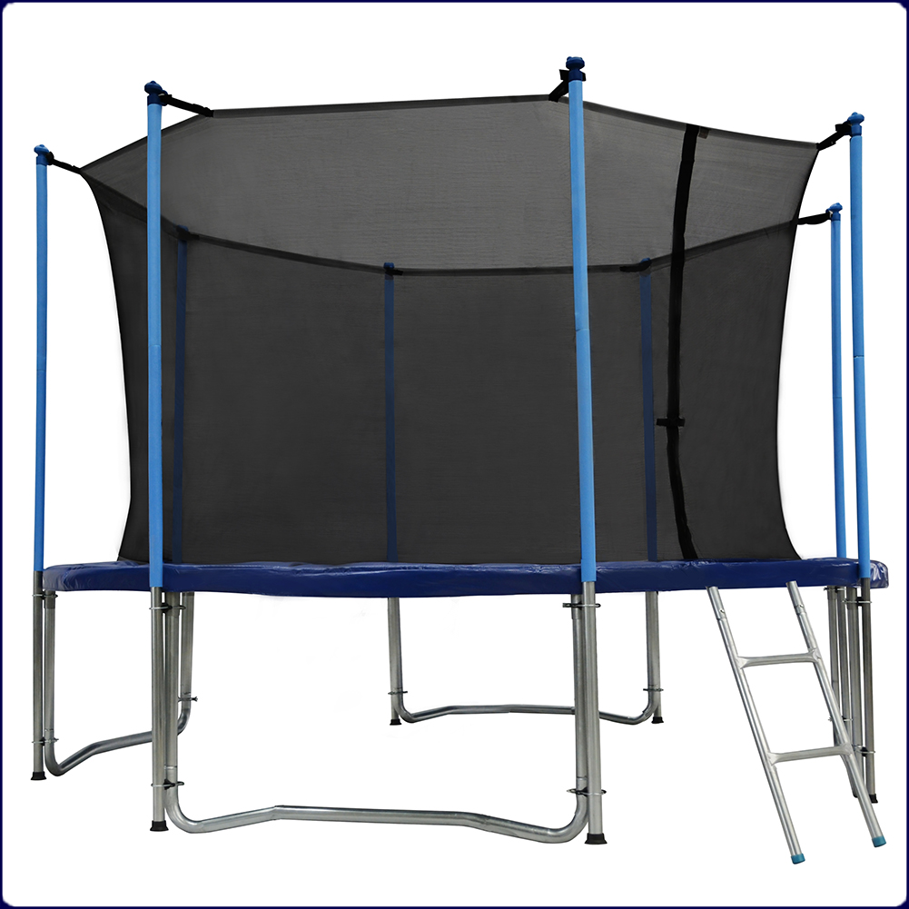Zupapa Round 14ft Trampoline Frame Safety Enclosure Spring