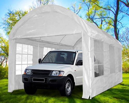 quictent 20x10 heavy duty portable carport canopy garage car shelter party tent white - Carport Canopy