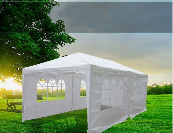 10 X 20 White Gazebo Party Tent Canopy With Side Walls Ebay