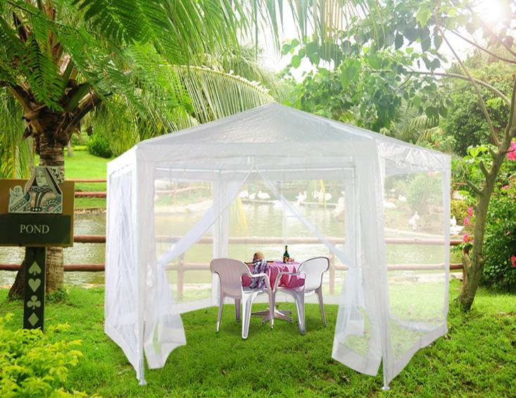 New 2x2x2m hexagonal patio garden gazebo party tent canopy - Canopy tent with mosquito net ...