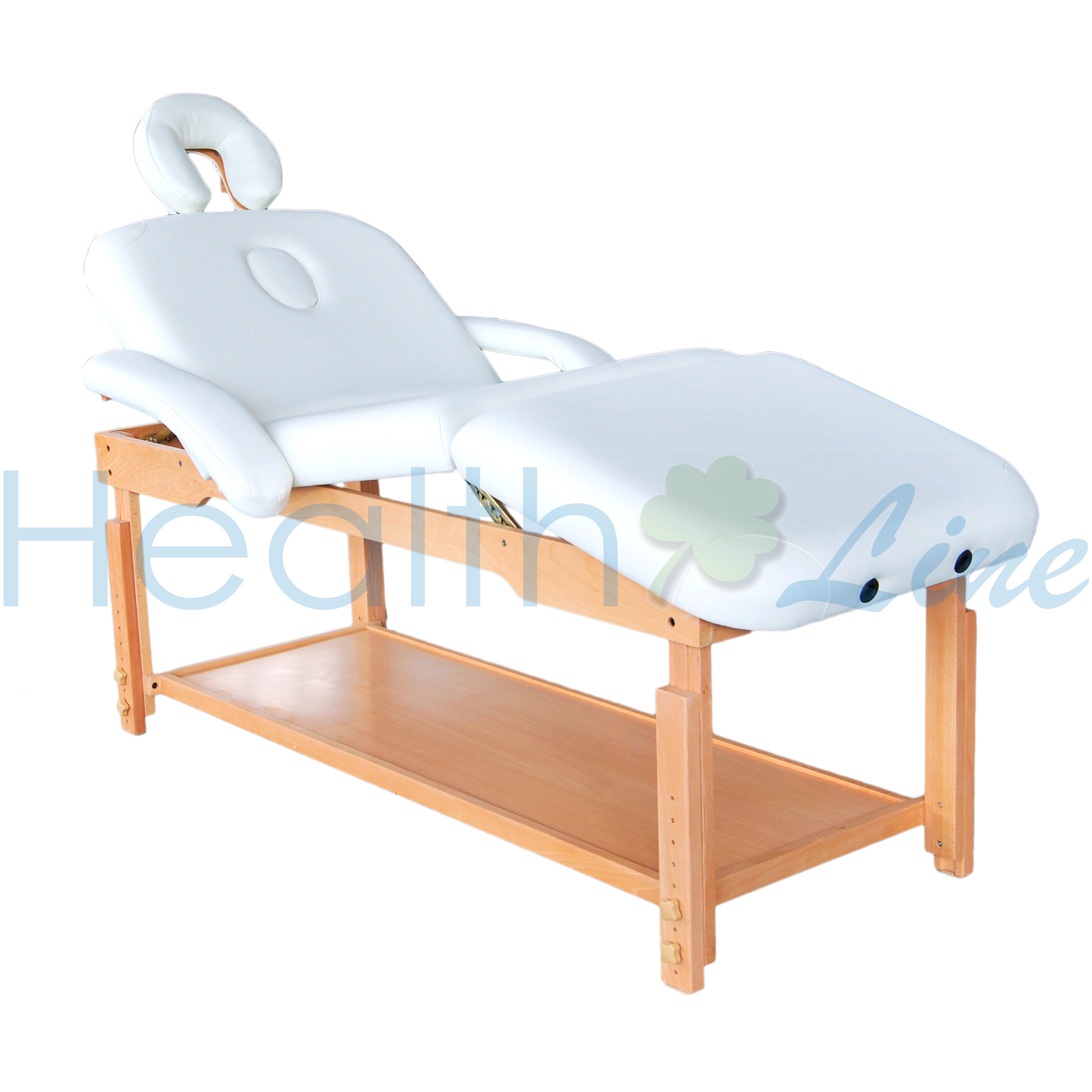 Healthline 3 section pro adjustable stationary massage for Mobile beauty therapist table