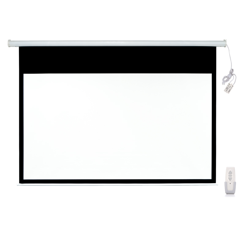 106 16 9 electric motorized pull down projection for Motorized drop down projector screen