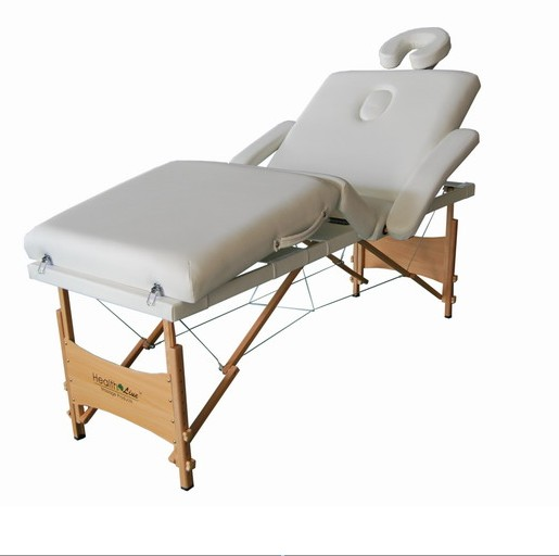 Healthline portable beauty massage table couch wooden 5cm for Mobile beauty therapist table