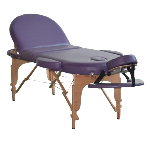 Portable massage beauty therpy table bed couch purple for Mobile beauty therapist table