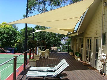 Quictent 12 18 20 Ft Triangle Sun Shade Sail Patio Pool