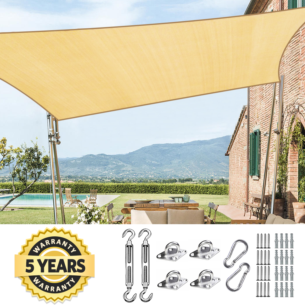 Rectangle Sun Shade Sail Patio Sand