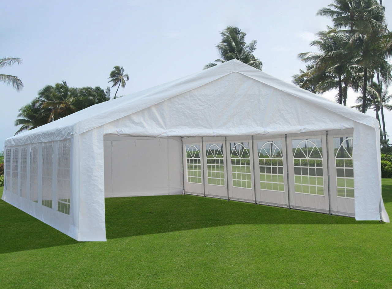 New Garden Reusable Gazebo Marquee Party Tent 6x3m Wedding Canopy 4 Sizes Pegs